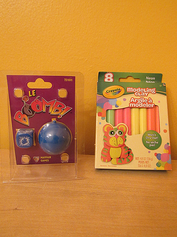 Mayfair game and Crayola Modeling Clay