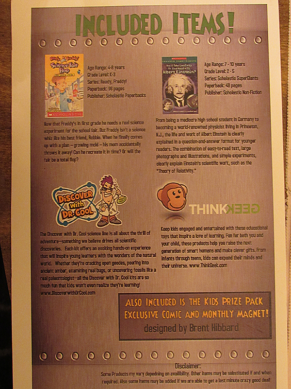 Back of the information card
