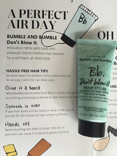 fede2c4ea1a Bumble and bumble Don't Blow It – I'm excited to try this product (but not  getting my hopes up too much) because the last few weeks I've been air  drying my ...