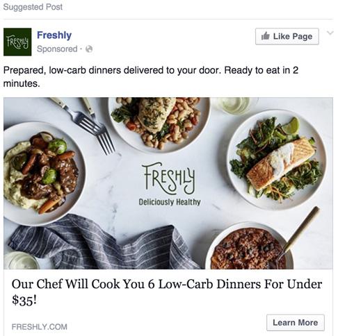 Freshly Facebook Ad
