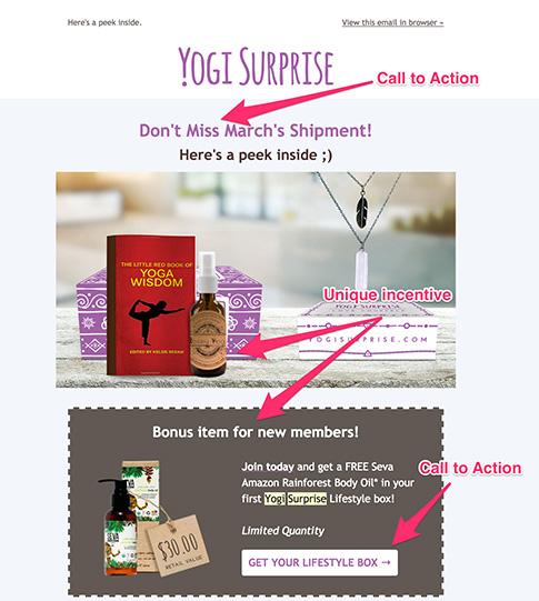 yogi surprise email