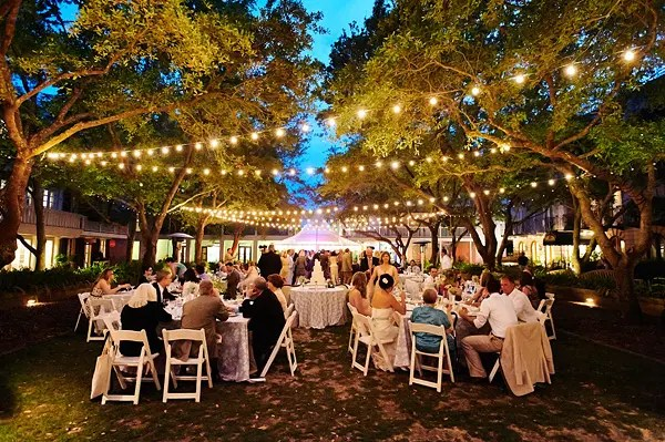 outdoor wedding lighting rental