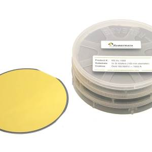 "Gold Coated 4"" Silicon Wafers (100 mm diameter) 