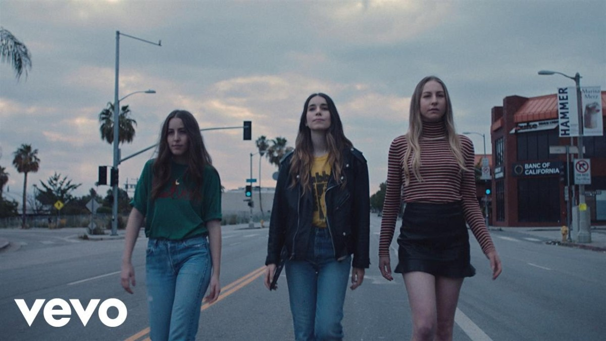 "Dance along to HAIM's new video for ""Want You Back"""
