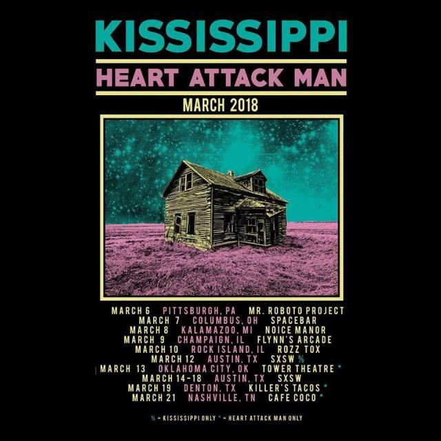 Kississippi - Heart Attack Man - SXSW Tour