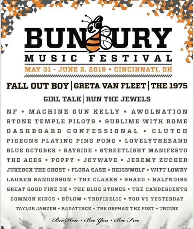 bunbury 2019 lineup