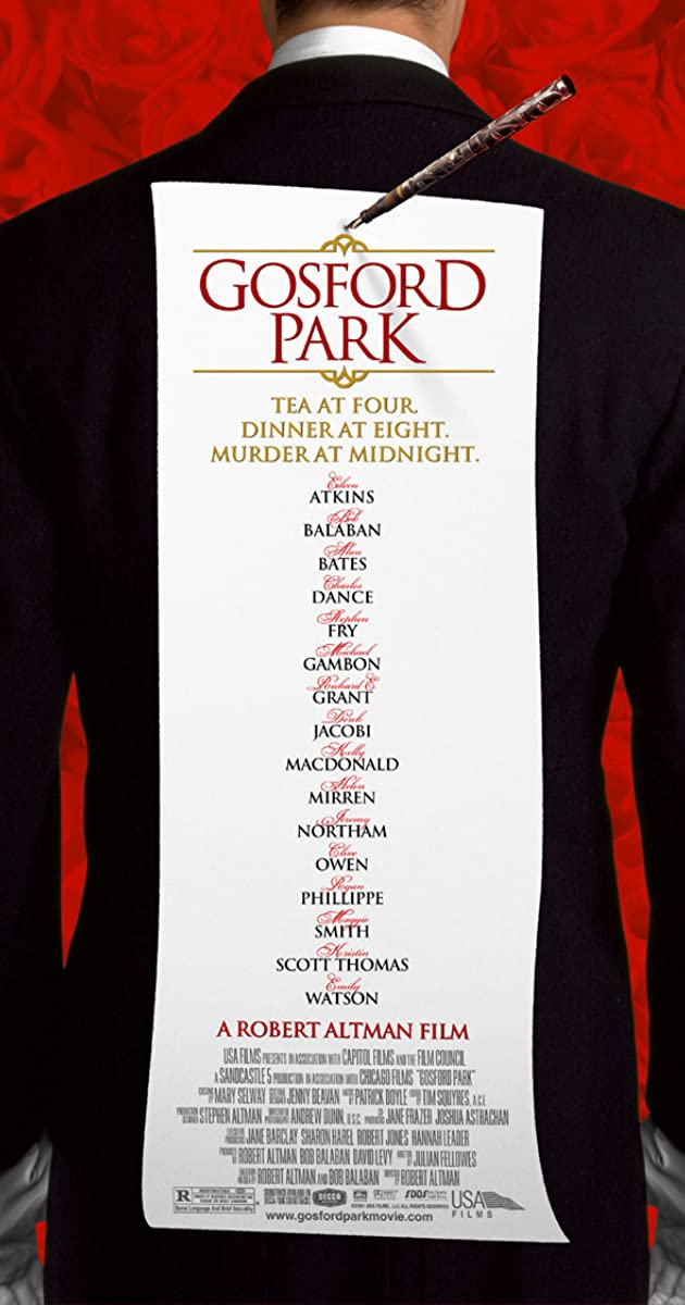 Gosford Park (2001): รอยสังหารซ่อนสื่อมรณะ