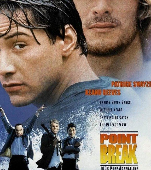 Point Break (1991) : คลื่นบ้ากระแทกคลื่นบ้า