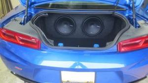 20162019 Camaro LTLSSS Dual 1012 Rear Fire Subwoofer Box by Subthump