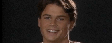 A young Rob Lowe