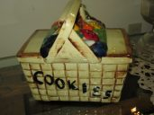 Mc Coy Picnic Basket Cookie Jar ( Unmarked )