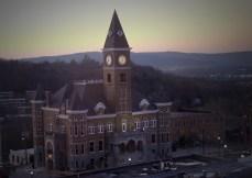 Washington County Courthouse at dawn.