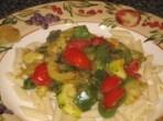 Vegetarian meal - pasta with stir fry veggies