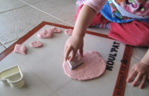 Making playdough - cutting out shapes 2