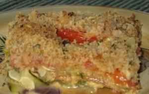 Zucchini casserole serving 2
