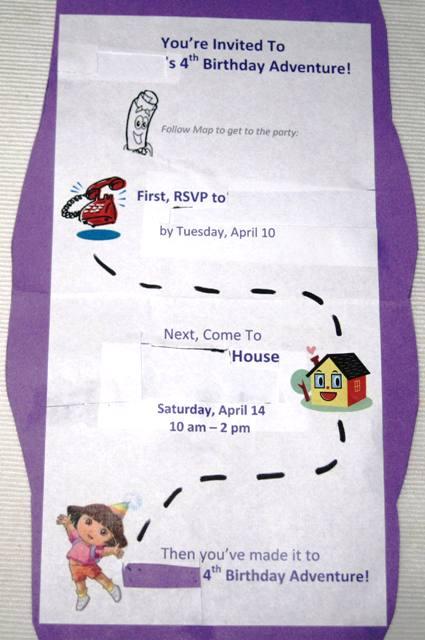 Dora The Explorer Theme Birthday Party – Dora the Explorer Birthday Invitations