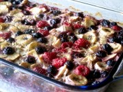 Baked oatmeal and fruits casserole