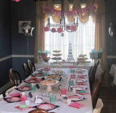 Table setting and buffet ready for the party