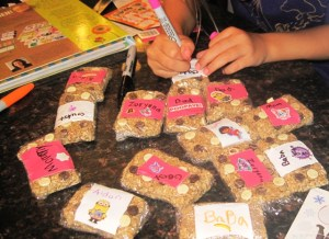 homemade granola bars personalized