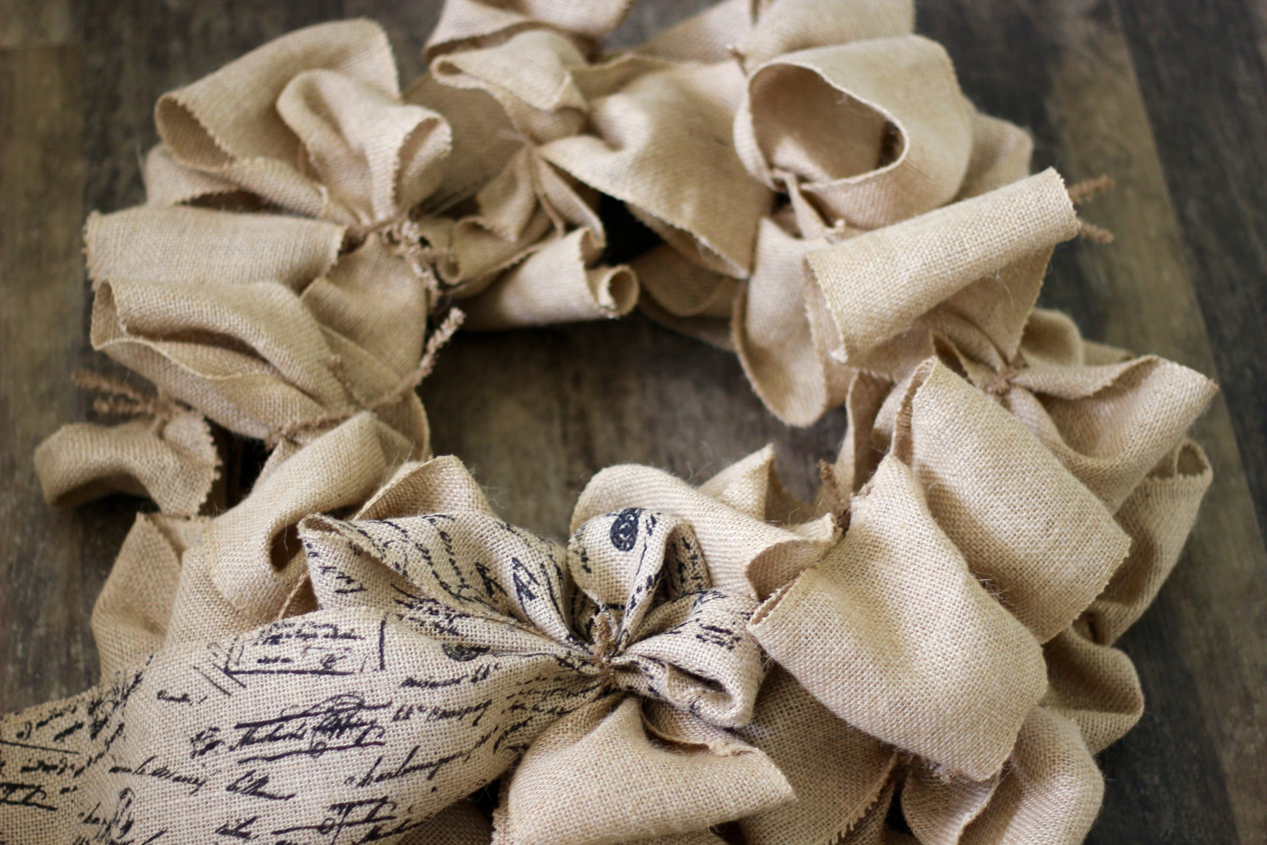 burlap-wreath making idea