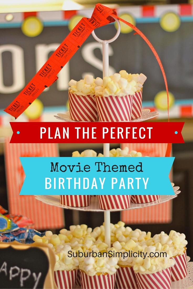 Terrific Movie Themed Birthday Kids Birthday Idea Funny Birthday Cards Online Eattedamsfinfo