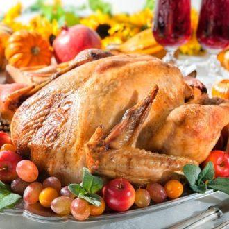 Moist turkey on a platter