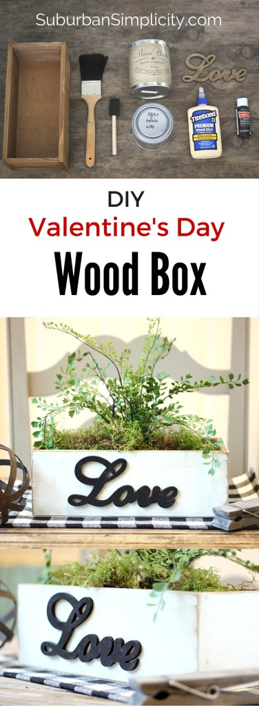 DIY Valentine's Day Wood Box