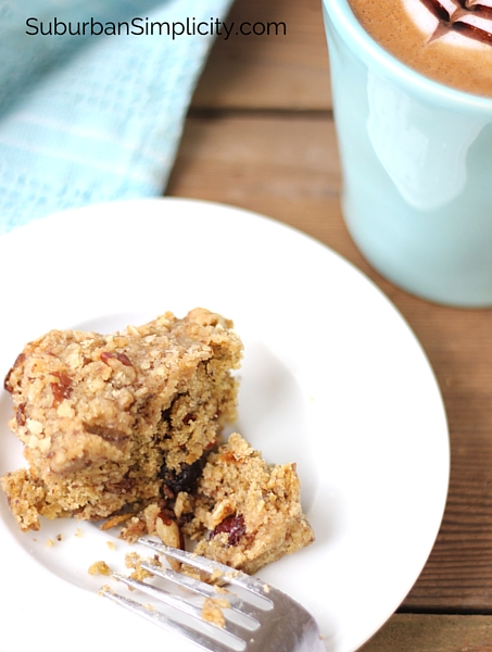a chewy Oatmeal Streusel Bar on a plate