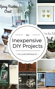 Creative and Inexpensive DIY Projects You Could Do Today to freshen up your home! It's easy to repurpose things you already have around your house and make them new again | Great Home Decor Ideas