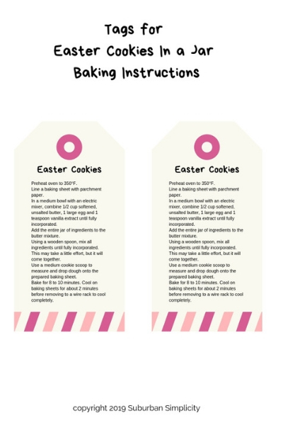 Nothing is as sweet as Easter Cookies in a Jar! This Easter treat idea is easy and fun to make. Mason jar gifts are the best!