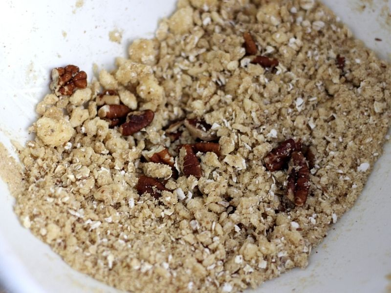 Streusel topping for oatmeal bars