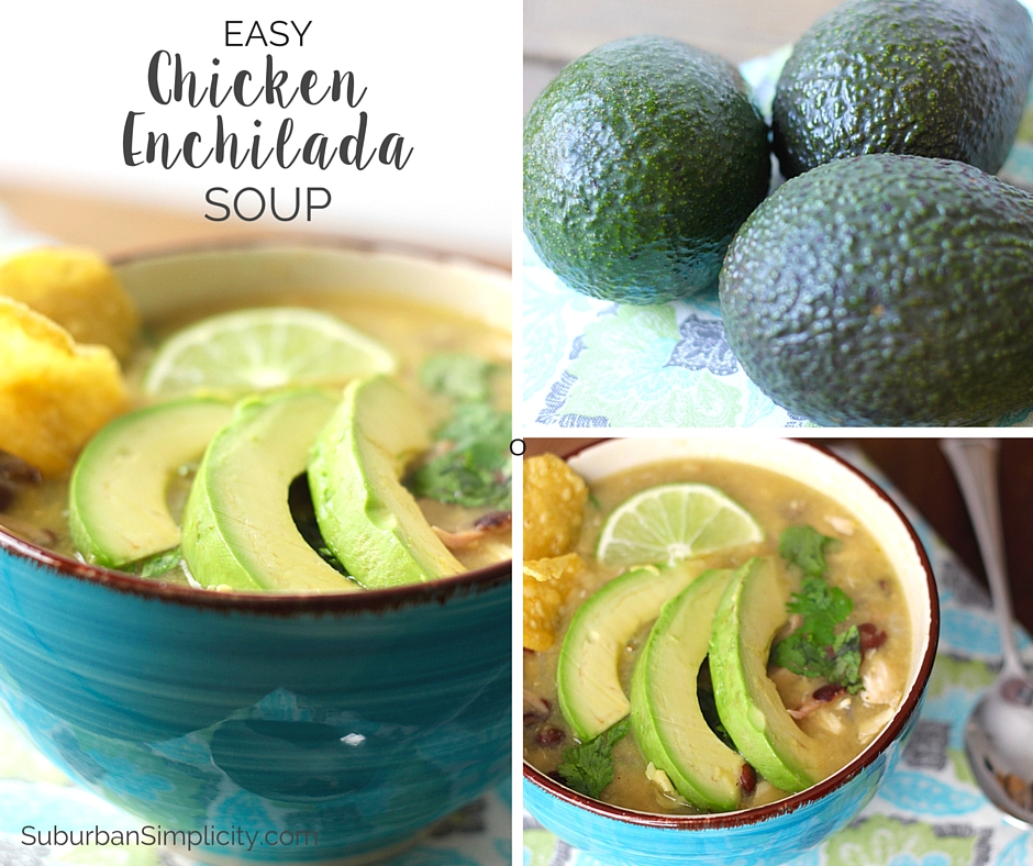 Easy Chicken Enchilada Verde Soup