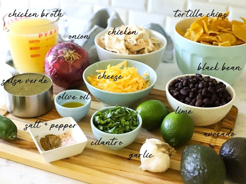 Ingredients for Green Chili Chicken Soup