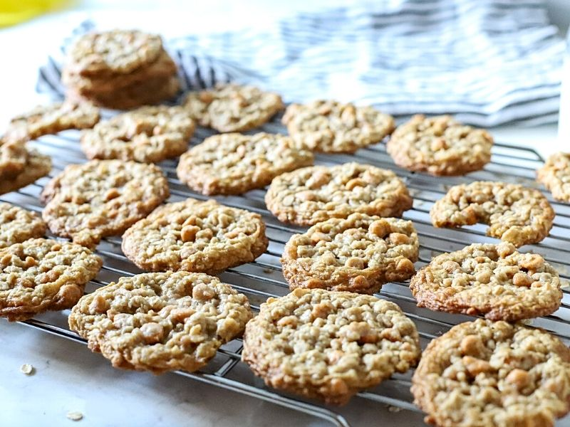 Butterscotch Cookies cooling on a rack