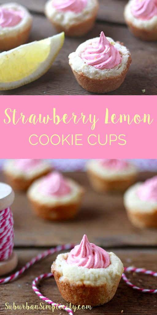 Although the ingredient list is simple, this Strawberry Lemon Cookie Cup is especially delicious! With its sweet, buttery taste, soft chewy texture, and exceptional strawberry lemon flavor combination , it's a true winner.