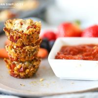 Quinoa Bites stacked and ready to eat