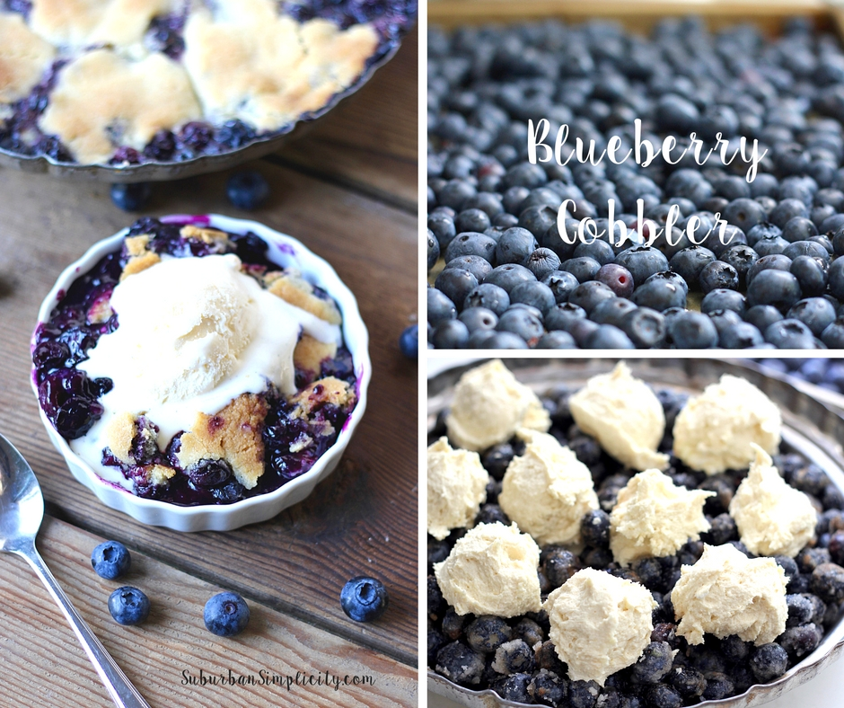 This Blueberry Cobbler with cookie dough crust is an amazing dessert recipe