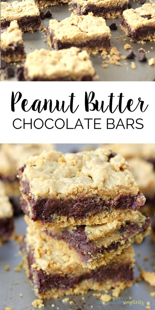 Peanut Butter Chocolate Bars make the perfect dessert! These cake mix bars come together easily with Dove Chocolate and peanut butter to make baking dreamy and delicious!