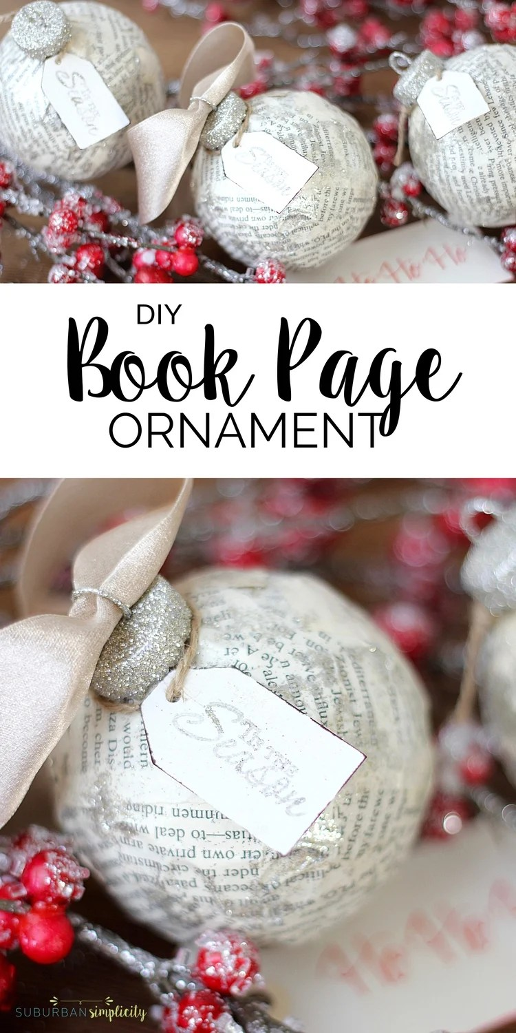 Making your own DIY Book Page Ornament is simple and fun. Use an old book to create a one-of-a-kind Christmas decoration your family will cherish year after year.