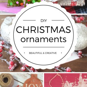 These Beautiful DIY Christmas Ornaments are perfect for Christmas decorating or to give as heartfelt gifts. It's time to get crafty for the holiday season!