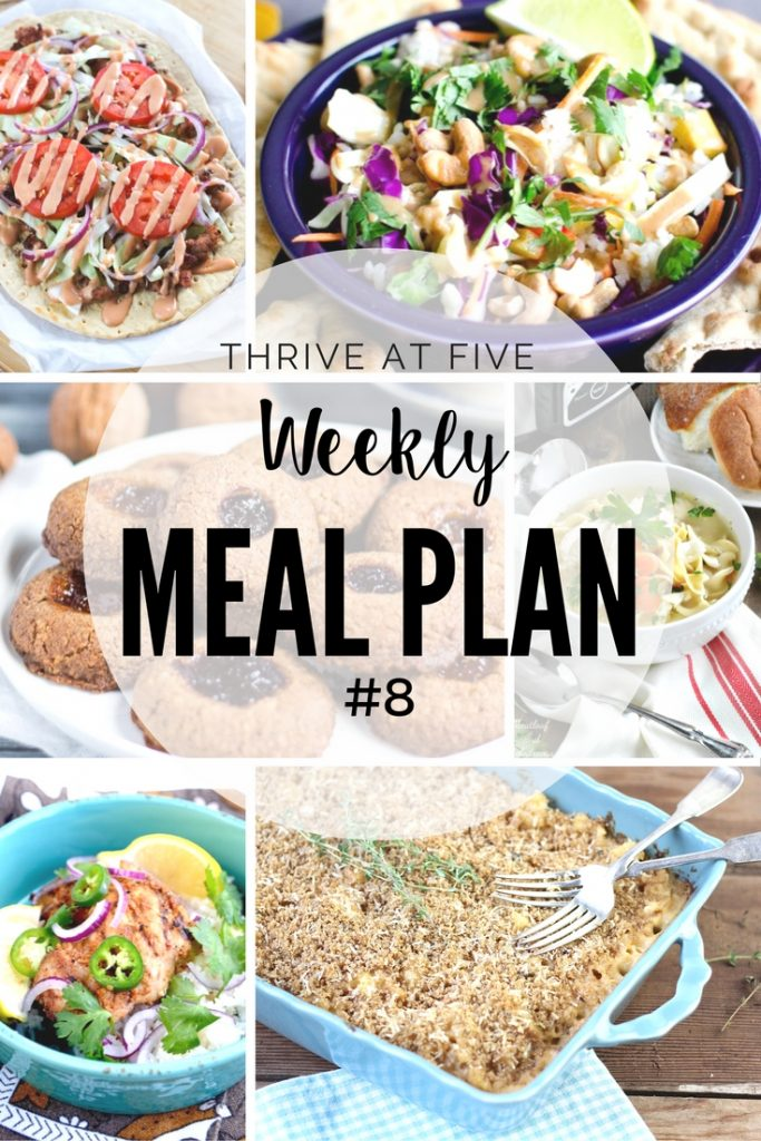 Thrive at Five Weekly Meal Plan #8 is your shortcut to fresh and delicious recipe ideas your family will love!
