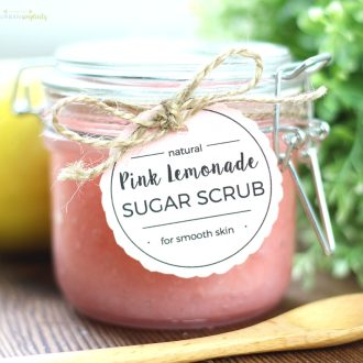 Pink Lemonade Sugar Scrub - an easy DIY beauty product