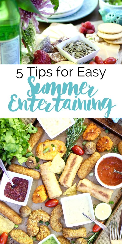5 Tips for Easy Summer Entertaining. Take the stress out of inviting people over. These ideas work for all your warm weather get-togethers!