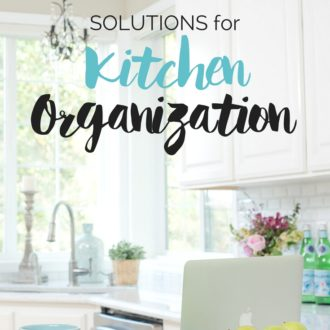 Finding Solutions for Kitchen Organization can be a challenge. These organizing ideas will help crush your clutter and make it easy to store and find things in the space you use most - the kitchen.