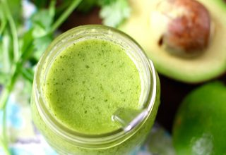 This 5-minute Healthy Avocado Cilantro Lime Dressing is a flavorful way to dress your salads or rice bowls. It's dairy-free, gluten-free, paleo-friendly, keto, and heart-healthy! Oh, it's also Whole30!