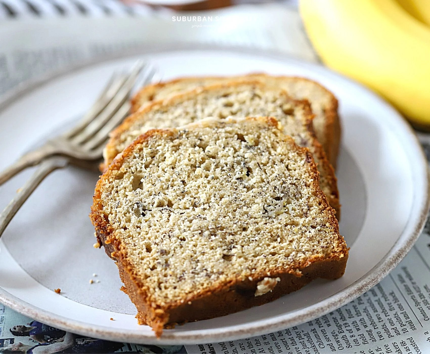 This is the best banana bread recipe you'll ever make. Moist and delicious every time! And it's infused with just the right amount of banana flavor. Homemade banana bread really is the best!
