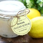 This easy DIY Lemon Sugar Scrub smells wonderfully refreshing and gives you silky smooth skin.  Also, the perfect idea for a handmade gift!