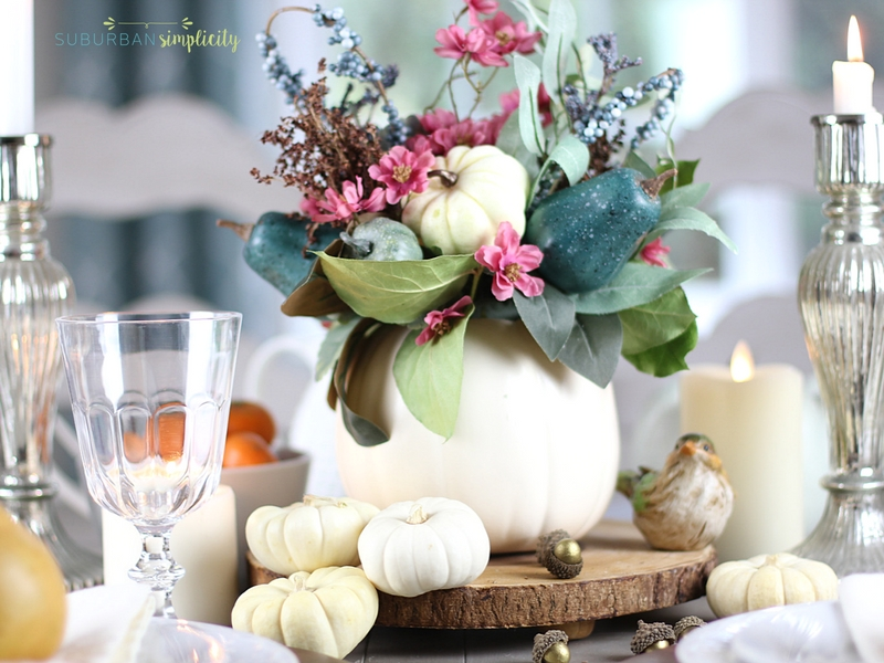 Handmade Thanksgiving table decorations