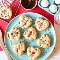 Valentine's Day Cookies on a plate.