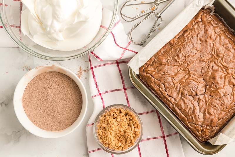 Brownies for chocolate trifle